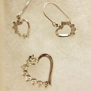 Silver heart set